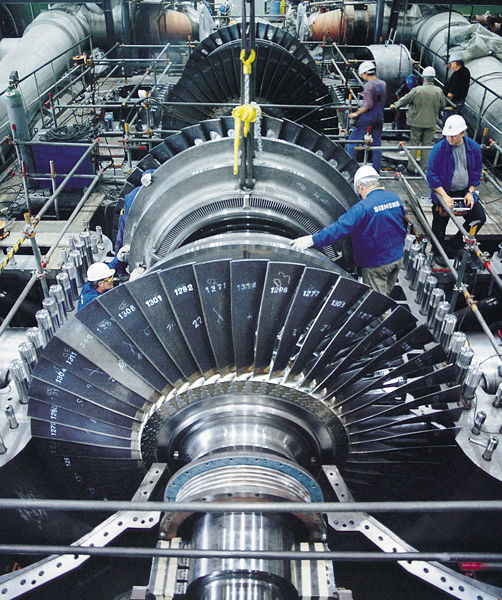 When rebuilding steam turbines at Power Plants, it is common to replace older components and use existing assemblies